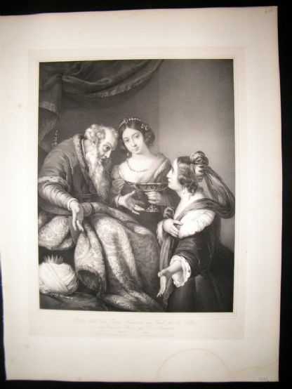 After Berardo Strozzi C1840 LG Folio. Esther asks for Mercy for her and people | Albion Prints